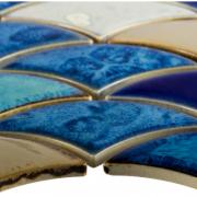 ELYSIUM DRAGON SCALE BLUE CLOSE UP
