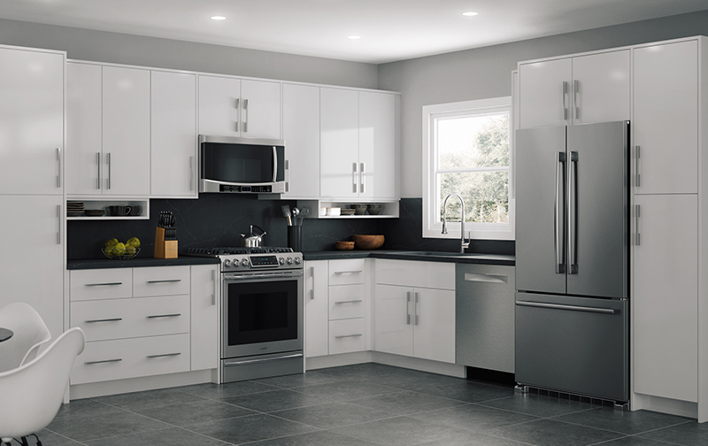 Ideal Cabinetry : Manhattan Semi-Gloss White - Royal ...